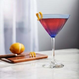 Libbey Blue Bowl 6-piece Martini Glass Set