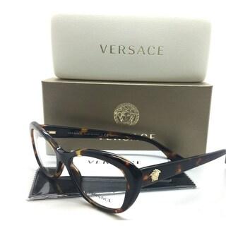 Versace Tortoise Eyeglasses Havana Gold
