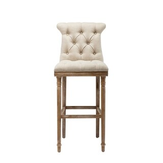 Provence Beige Wooden Bar Stool