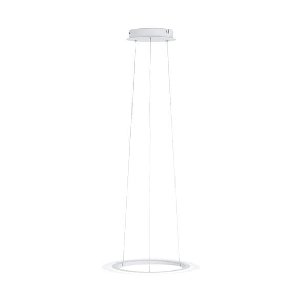 Eglo Lighting White 15.75-inch LED Round Pendant Light