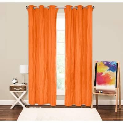 Crayola Crinkled Blackout Grommet Single Curtain Panel