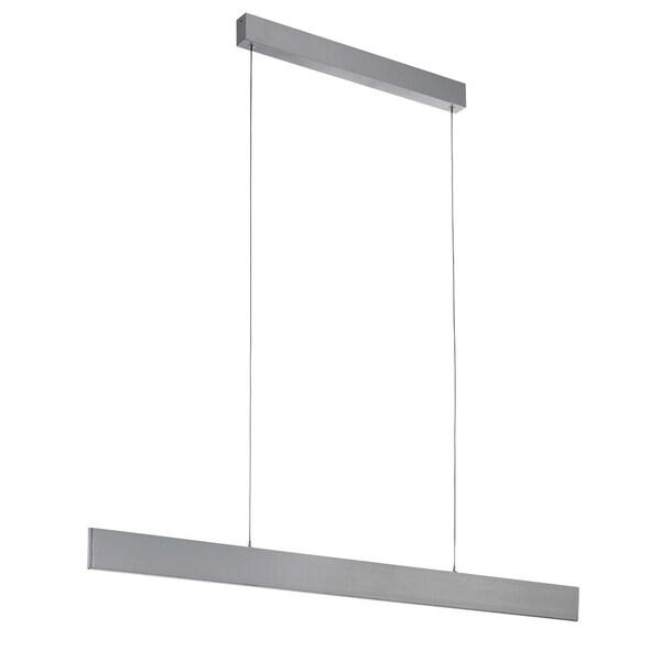 Eglo Lighting Climene LED Linear Pendant with Brushed Aluminum Finish