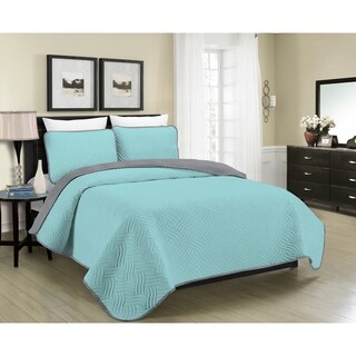 Asher Home Aaron Reversible 3-piece Quilt Set