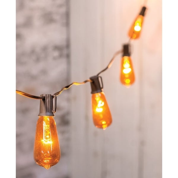 Orange Edison String Lights