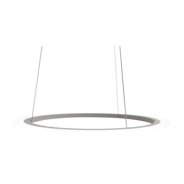 Eglo Lighting White Finish 23.58-inch LED Round Pendant Light