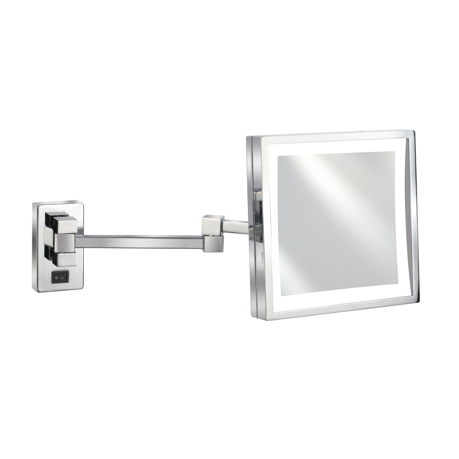 Empire 5x Magnification Wall Mount 8 X 8 Lighted Makeup Mirror Polished Chrome On Sale Overstock 18591378