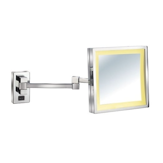 Shop Empire 5x Magnification Wall Mount 8 X 8 Lighted Makeup