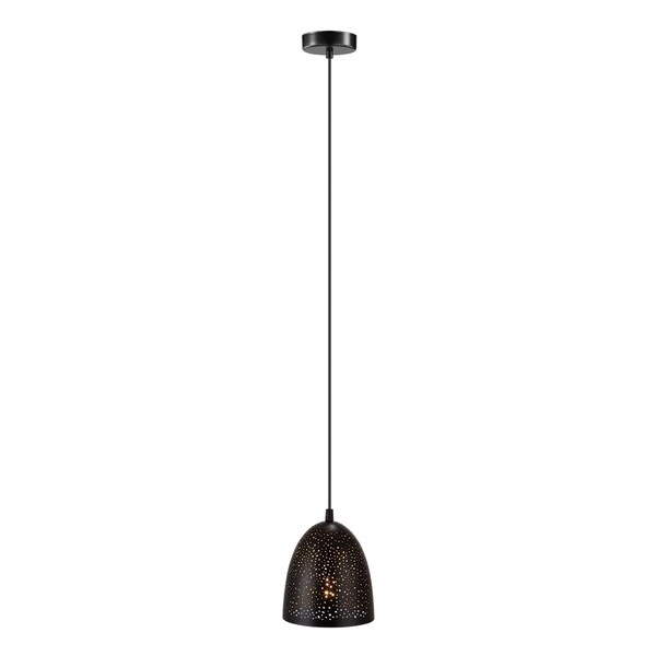 Eglo Lighting Mini Pendant with Black Outer and Gold Inner Finish