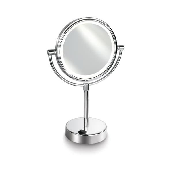 "Empire 1X/ 5X Magnification 7"" Lighted Makeup Vanity - Polished chrome"