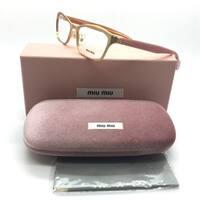 Miu Miu Brushed Copper on Pink Eyeglasses