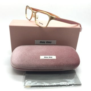 Miu Miu Brushed Copper on Pink Eyeglasses