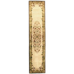 Safavieh Handmade Heritage Timeless Traditional Beige Wool Runner (2'3 x 12')