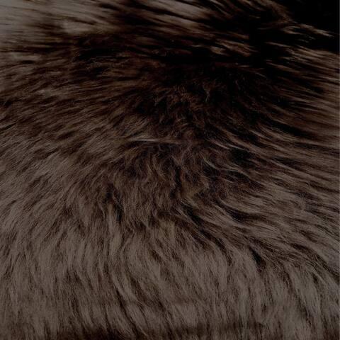 Legacy Home Luxurious Longhair Sheepskin Faux Fur Bedspread
