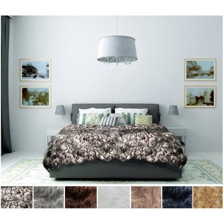 Legacy Home Luxurious Longhair Sheepskin Faux Fur Bedspread
