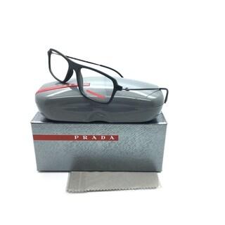 Prada Sport Black Eyeglasses Matte Italy Rubber
