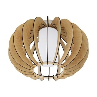 Eglo Lighting Stellato Ceiling Light with Maple Wood Finish