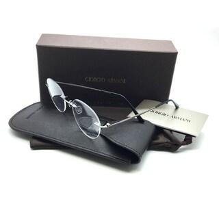 Giorgio Armani Matte Gunmetal Titanium Eyeglasses