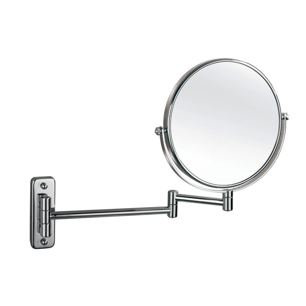 "Empire 1X/ 5X Magnification Wall-Mount 8"" Makeup Mirror - Polished chrome"