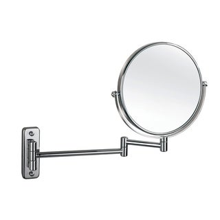 """Empire 1X/ 5X Magnification Wall-Mount 8"""" Makeup Mirror - Polished chrome"""