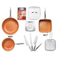 Gotham Steel 11 Piece Nonstick Cookware Pro Knife Set - Copper