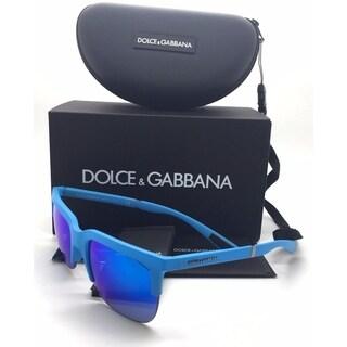 Dolce & Gabbana Azure Rubber Green Blue Mirror Lens