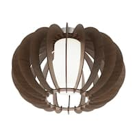 Eglo Lighting Stellato 3 Ceiling Light with Brown Wood Finish