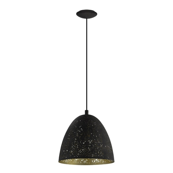 Eglo Lighting Safi Pendant w/ Black Outer and Gold Interior Finish