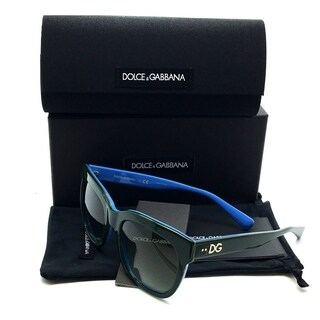Dolce & Gabbana Green Sunglasses Blue Gradient