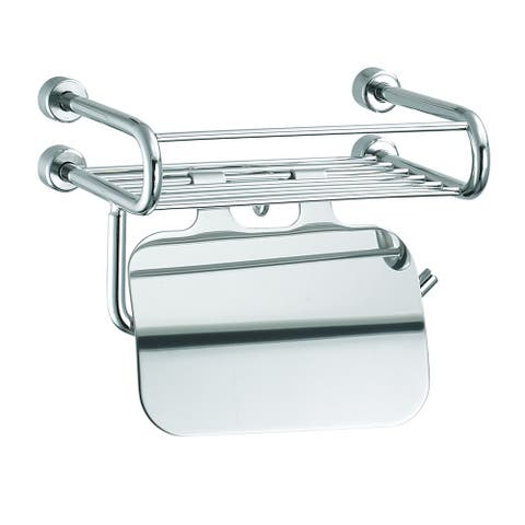 Empire Tivoli Stainless Steel Toilet Paper Holder with Storage