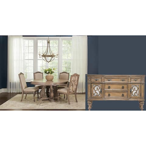 Westchester 6-piece Round Table Dining Set
