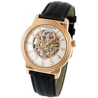 Stuhrling Original Delphi Men's Skeleton Watch