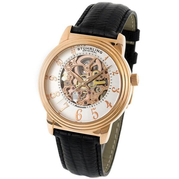 Stuhrling Original Delphi Men's Skeleton Watch