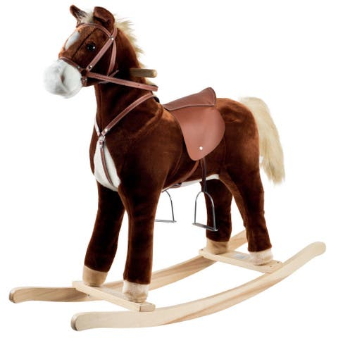Happy Trails Plush Rocking Horse