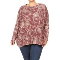 Women's Plus Size Paisley Pattern Tunic