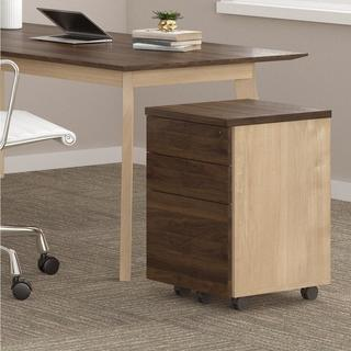 Ameriwood Home AX1 Walnut Mobile File Cabinet