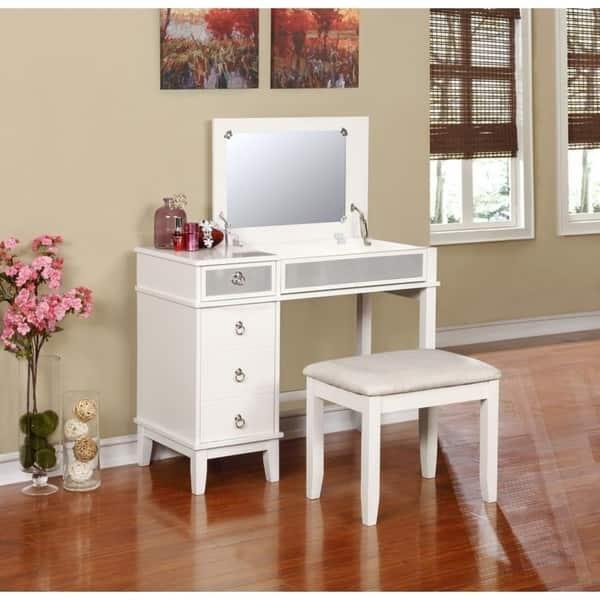 Magnificent Shop Karlie Vanity Set On Sale Free Shipping Today Creativecarmelina Interior Chair Design Creativecarmelinacom