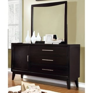 Furniture of America Nace Brown 2-piece Dresser and Mirror Set