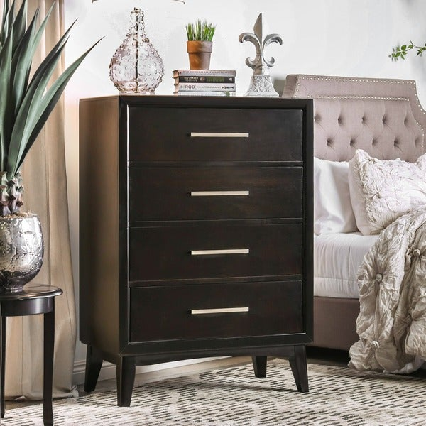 Furniture of America Nace Modern Espresso Solid Wood 4-drawer Chest