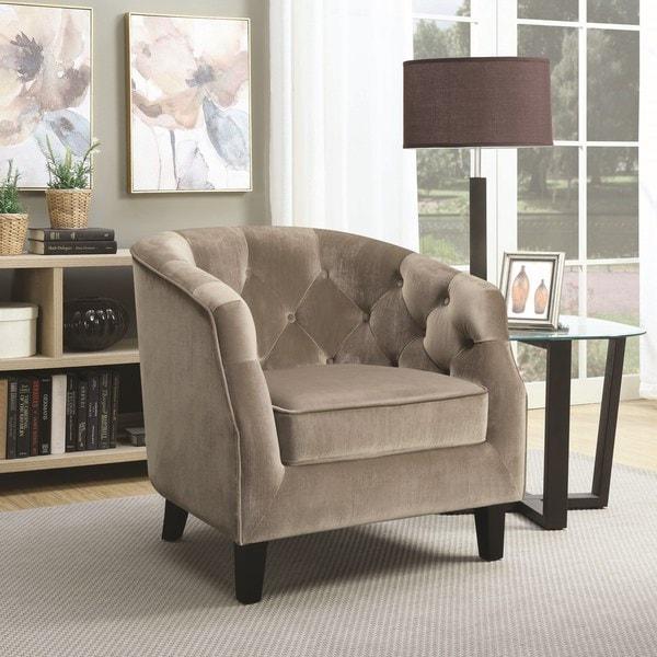 Shop Doreen Velvet Upholstered Button Tufted Accent Chair