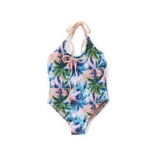Girl's Palm Lace Detail and Low Back One Piece Swimsuit (Option: 6)|https://ak1.ostkcdn.com/images/products/18594337/P24695100.jpg?impolicy=medium
