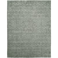 Gramercy Grey/Zinc Wool Hand-knotted Area Rug (8' x 10') - 8' x 10'