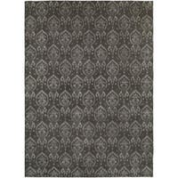 Gramercy Heather/Grey Hand-knotted Wool Area Rug (10' x 14') - 10' x 14'