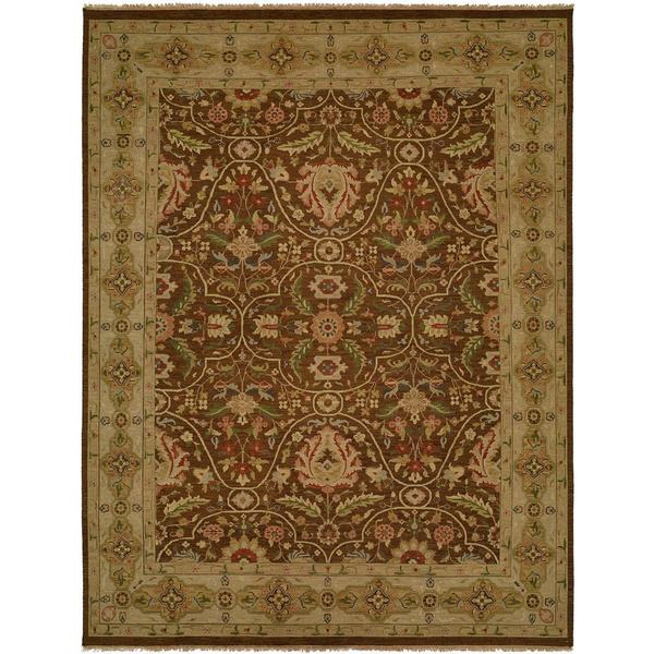 Carol Bolton Soumak Fall/Sienna Wool Area Rug (2'6 x 8')
