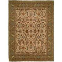 Carol Bolton Ivory/Gold Hand-Knotted Area Rug - 2' x 3'