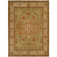 Carol Bolton Light/Gold Wool Hand-knotted Area Rug (6' x 9') - 6' x 9'