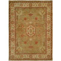 Carol Bolton Light/Gold Wool Hand-knotted Area Rug (6' x 9')