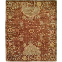 Carol Bolton Rodewood/Reverie Wool Hand-knotted Area Rug (6' x 9') - 6' x 9'
