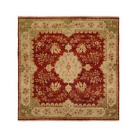 Carol Bolton Rose/Chenille Wool Hand-knotted Area Rug (6' x 9')