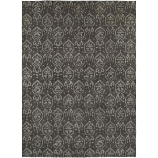 Gramercy Heather Grey Hand-knotted Wool Area Rug (8' x 10') - 8' x 10'