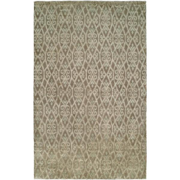 Gramercy Tan Hand-knotted Wool Area Rug (9' x 12') - 9' x 12'